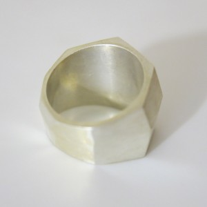 """""""anillo-3-modelado de plata único"""""""